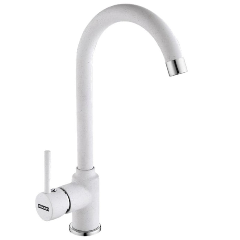 White Kitchen Taps: FRANKE POLA WHITE POLAR KITCHEN SINK MIXER TAP