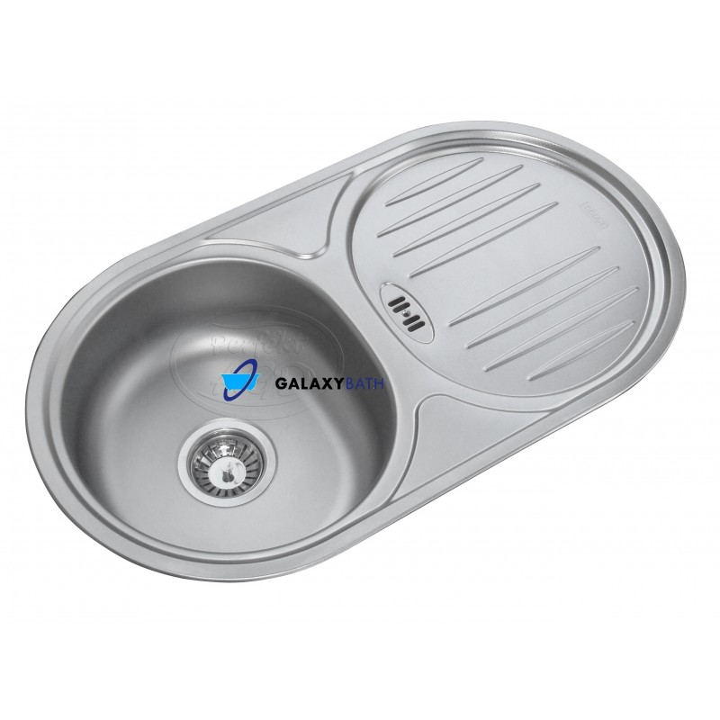 FRANKE STAINLESS STEEL KITCHEN ROUND SINK SINGLE 1.0 BOWL INSET ...