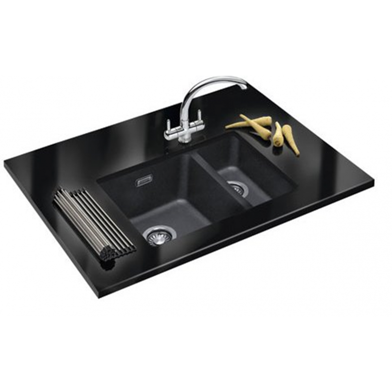 Franke Black Kitchen Sink: FRANKE SIRIUS BLACK ONYX TECTONITE UNDERMOUNT 1.5 BOWL