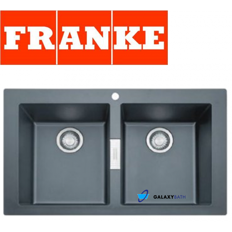 franke sirius black onyx tectonite 20 bowl inset square kitchen sink