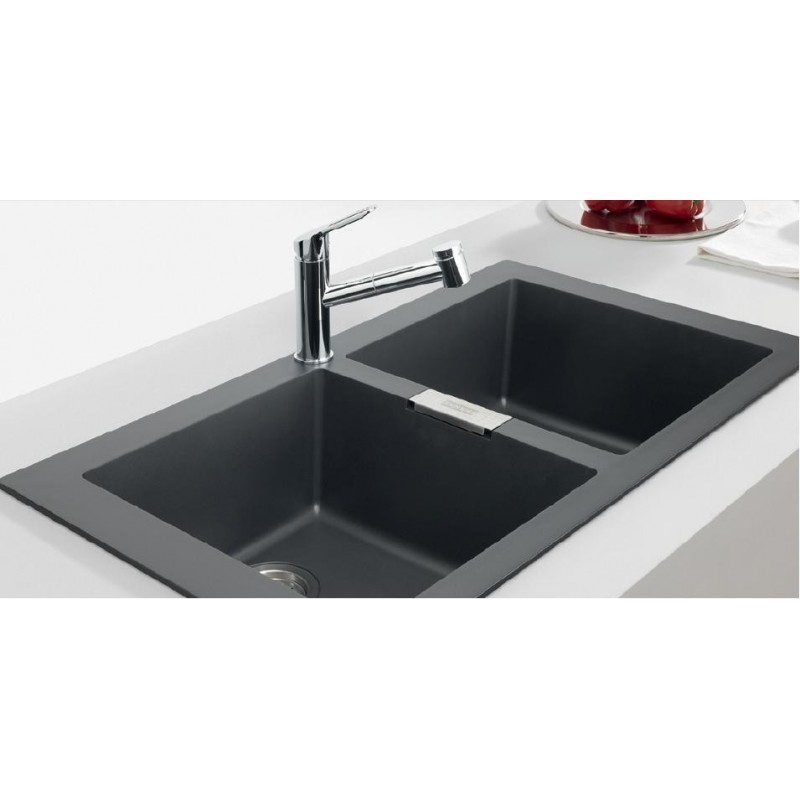 Franke Black Kitchen Sink: FRANKE SIRIUS BLACK ONYX TECTONITE 2.0 BOWL SQUARE KITCHEN