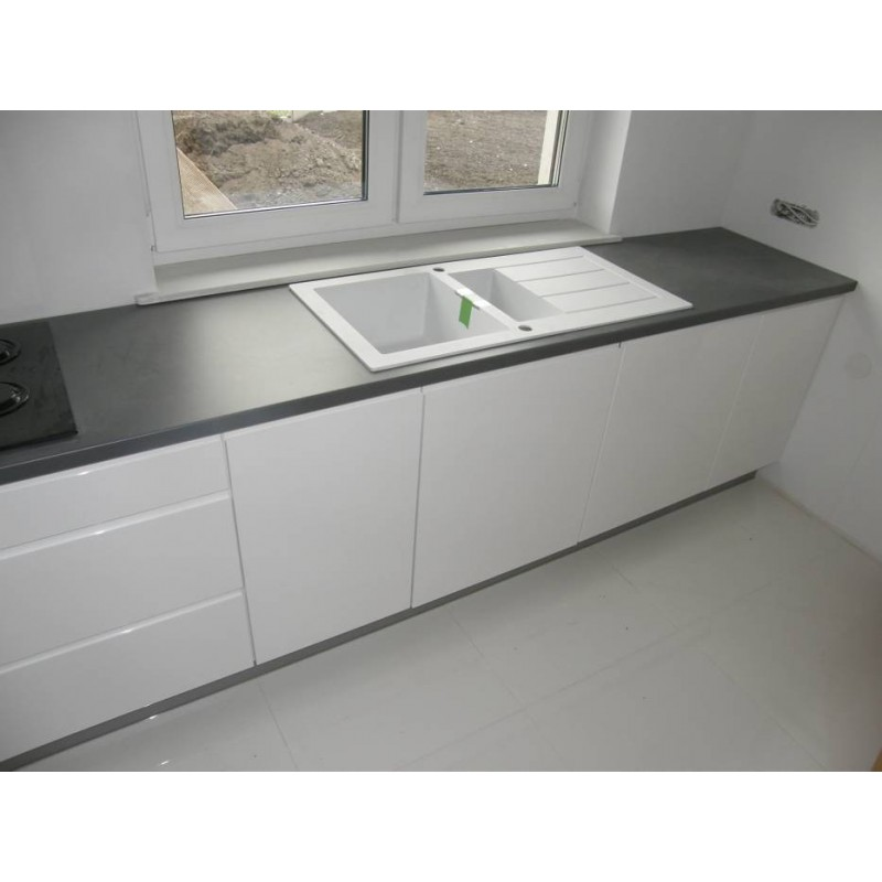 FRANKE SIRIUS WHITE POLAR TECTONITE 1.5 BOWL INSET SQUARE KITCHEN SINK ...