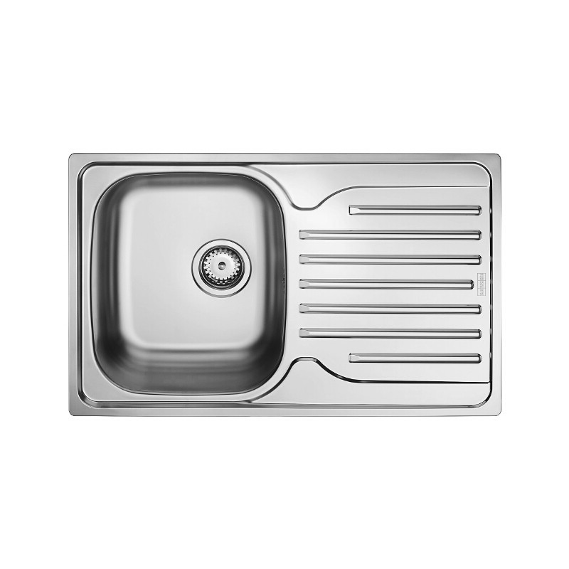 Franke Single Bowl Kitchen Sink : FRANKE STAINLESS STEEL LINEN KITCHEN SQUARE SINK SINGLE 1.0 BOWL INSET ...