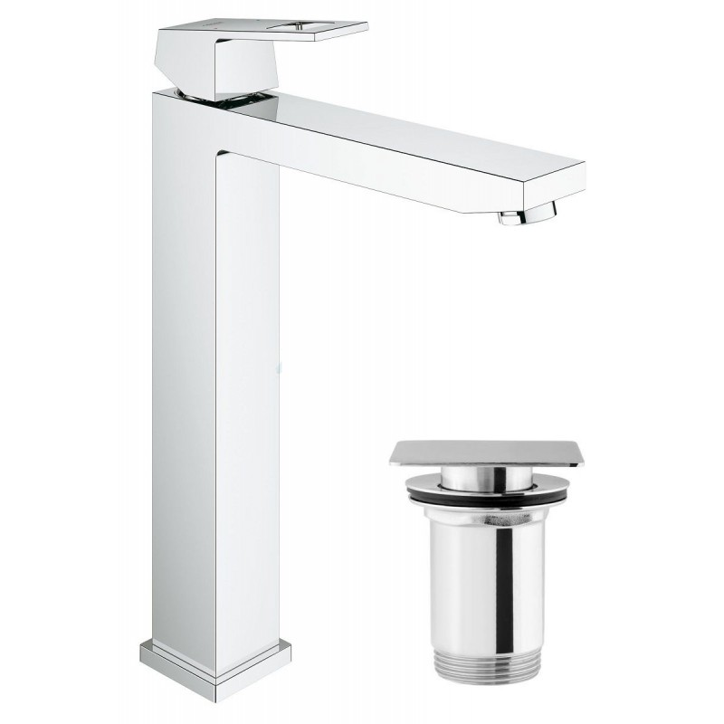 grohe eurocube tall single lever basin mixer tap xl with. Black Bedroom Furniture Sets. Home Design Ideas