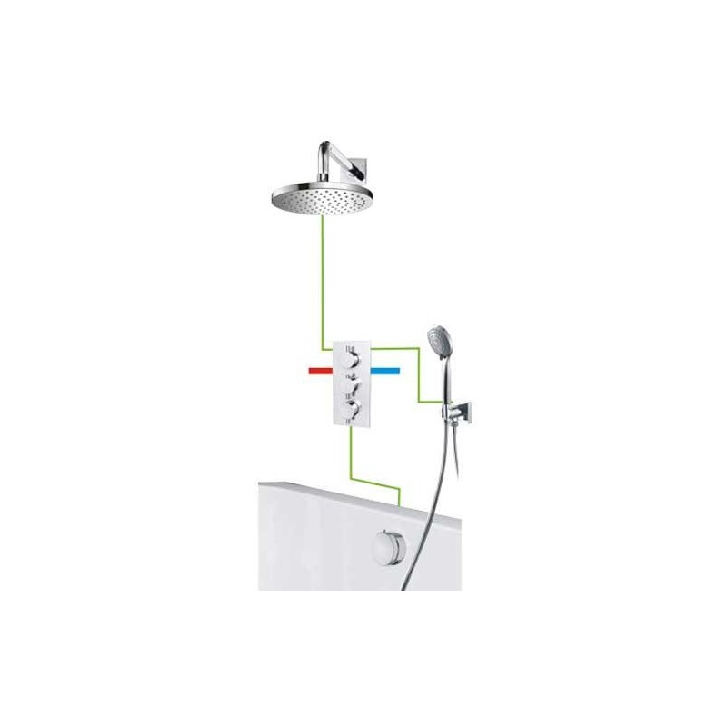 omnires y bath shower thermostatic concealed mixer tap