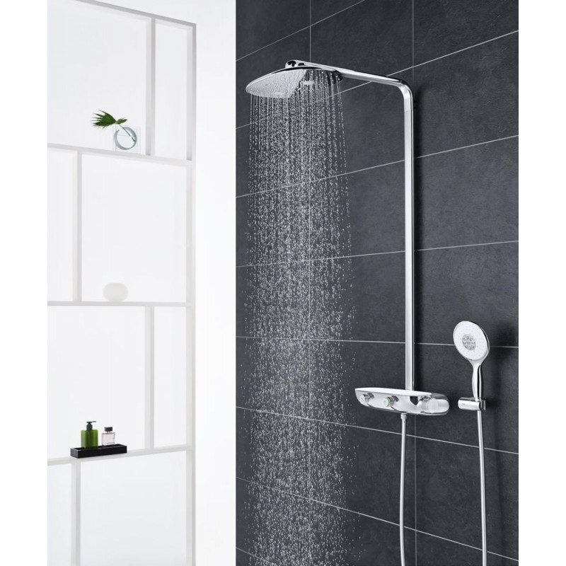grohe rainshower smart control 360 thermostatic tap shower mixer system panel galaxy bath ltd. Black Bedroom Furniture Sets. Home Design Ideas