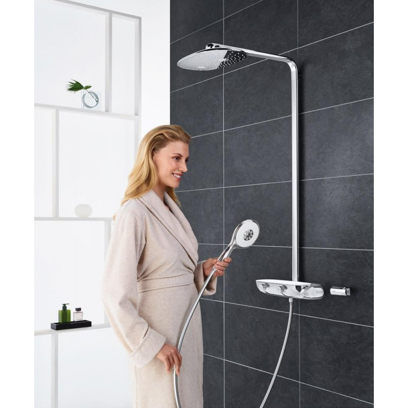 grohe rainshower smart control 360 thermostatic tap shower. Black Bedroom Furniture Sets. Home Design Ideas