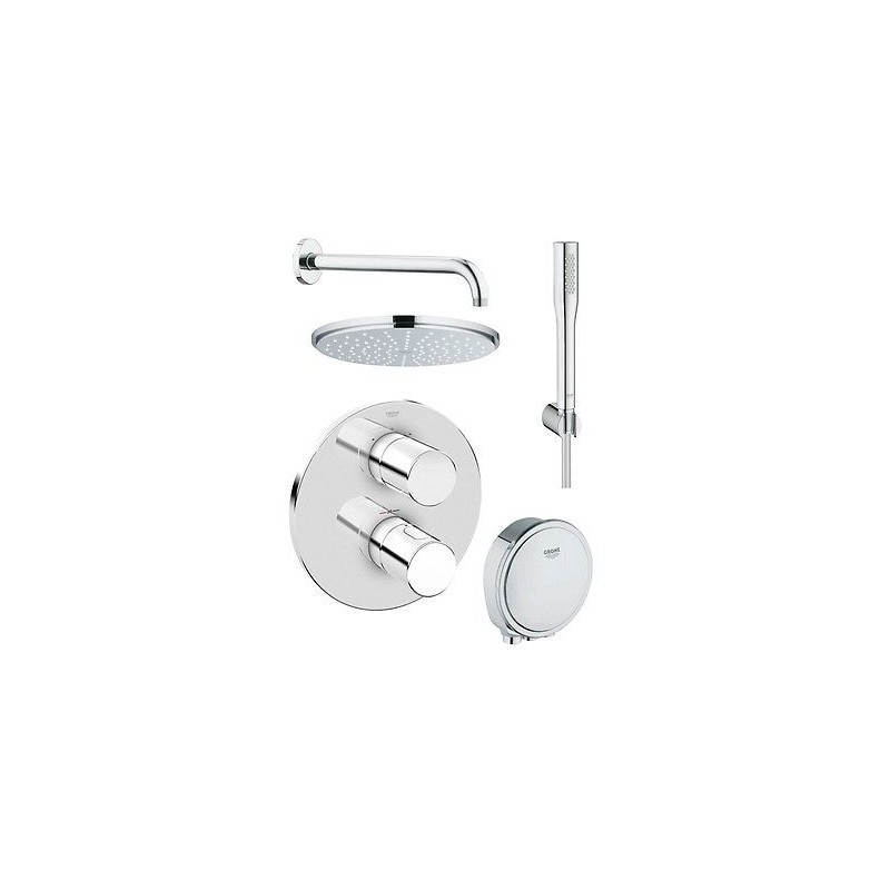 grohe grohtherm 3000 cosmopolitan thermostatic rain shower set mixer