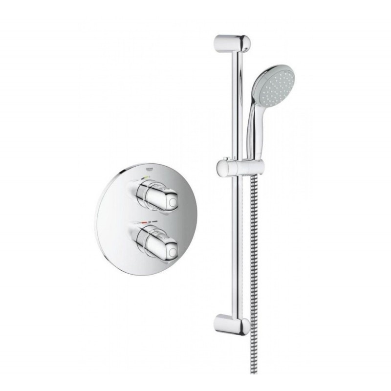 grohe grohtherm 1000 thermostatic mixer concealed shower set tempesta