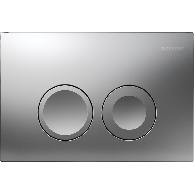 Geberit delta 21 flush plate chrome matt up100 galaxy for Geberit flush