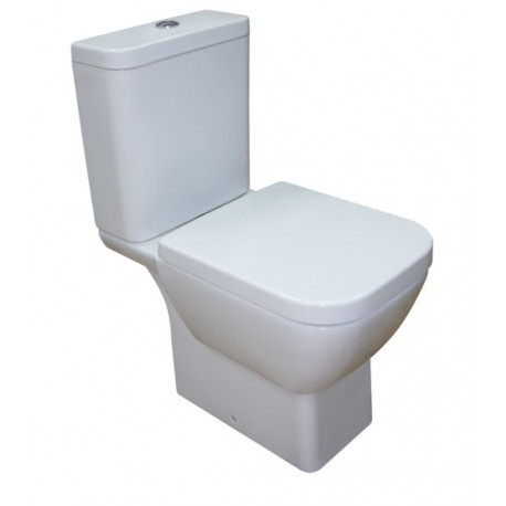 Roca Santiago Boxed WC Pack Close Coupled With Horizontal Outlet 3in1 Set