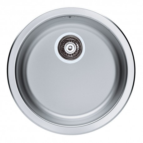 ALVEUS SINGLE 1.0 BOWL INSET ROUND STAINLESS STEEL KITCHEN SINK WITH  PLUMBING KIT