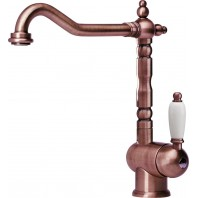 Franke Old England High Pressure Kitchen Tap with Fixed Spout - Old Copper