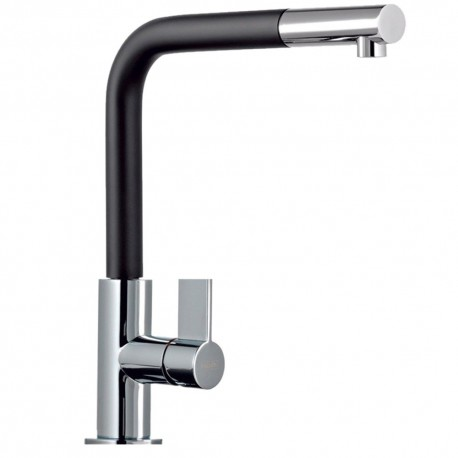 FRANKE NEPTUNE PULL OUT SPRAY CHROME/BLACK KITCHEN SINK MIXER TAP