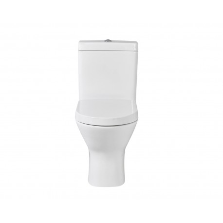 Resort Mini Flush-to-Wall Toilet with Soft-Close Seat