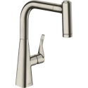Hansgrohe M71 M7116-H220 Single Lever Kitchen Mixer Tap With Pull-Out Spray Stainless Steel Finish