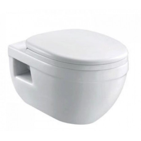Ideal Standard Frame + Pura Bathrooms Ivo Wall Hung Toilet Pan With Seat 5in1 Set