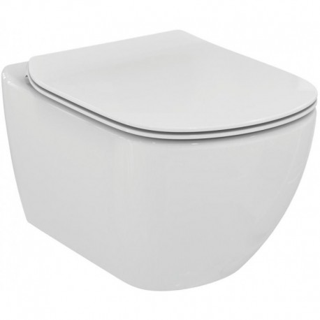 Ideal Standard Tesi Rimless Wall Hung Toilet Pan With Soft Close Seat