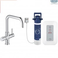 Grohe Red II Duo L Spout Tap & M Size Boiler Chrome