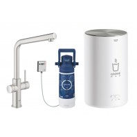 Grohe Red II Duo L Spout Tap & M Size Boiler SupeSteel