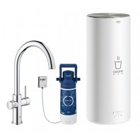 Grohe Red II Duo C Spout Tap & L Size Boiler Chrome