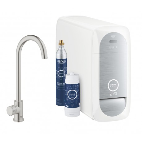Grohe Blue Home Mono C Spout SuperSteel