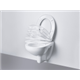 Grohe Rapid SL 2-in-1 set for WC 1.0m + Skate Cosmo Flush Plate + Bau Ceramic WC Wall Hung + Soft Closed Seat