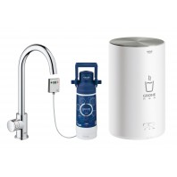GROHE Red Mono Pillar tap and M size boiler Chrome