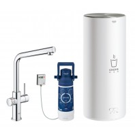 GROHE Red Duo Tap and L Size Boiler Chrome