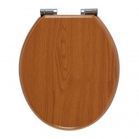 Holborn Wooden Soft-Close Toilet Seat - Solid Oak