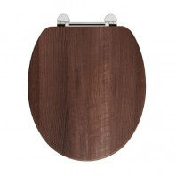 Holborn Wooden Soft-Close Toilet Seat - Dark Walnut