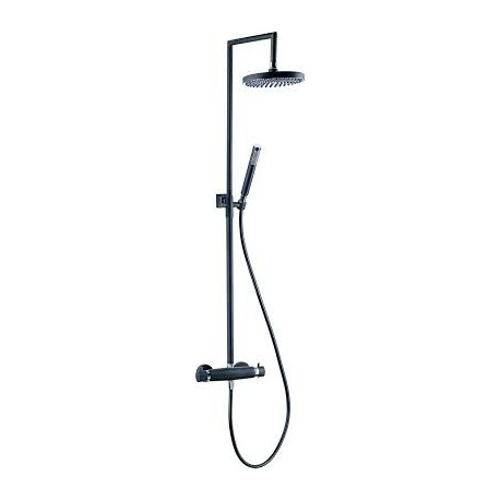 Aquaflow Italia Nero Black Thermostatic Shower Column