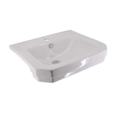 Holborn 550mm Semi-Recessed Basin - 1 Tap Hole
