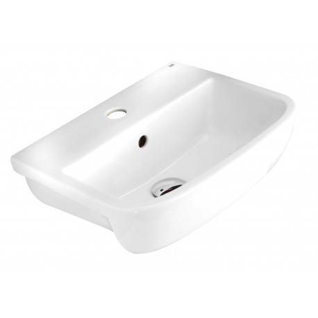 Rak Ceramics Metro 520mm Semi-Recessed Basin - 1 Tap hole