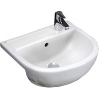Rak Ceramics Compact 450mm Semi-Recessed Basin - 1 Tap Hole RH