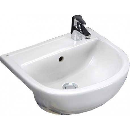 Rak Ceramics Compact 450mm Semi-Recessed Basin - 1 Tap Hole LH