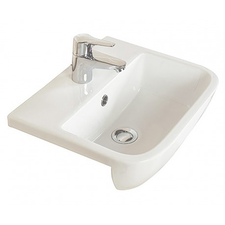 Rak Ceramics Series 600 Semi-Recessed Basin 500mm - 1 Tap Hole