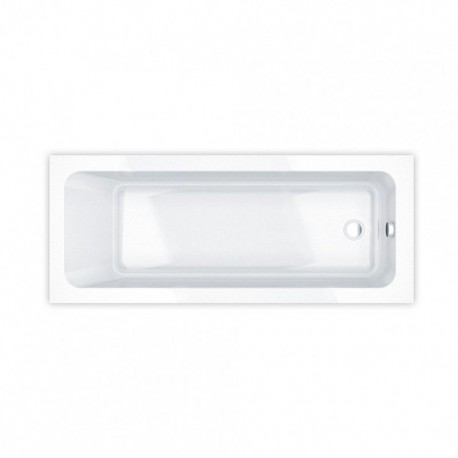 Essential Bromley Rectangular Single Ended Bath 1700x700mm 0 Tap Holes White