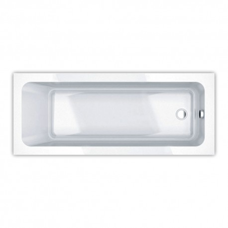 Essential Bromley Rectangular Single Ended Bath 1700x750mm 0 Tap Holes White