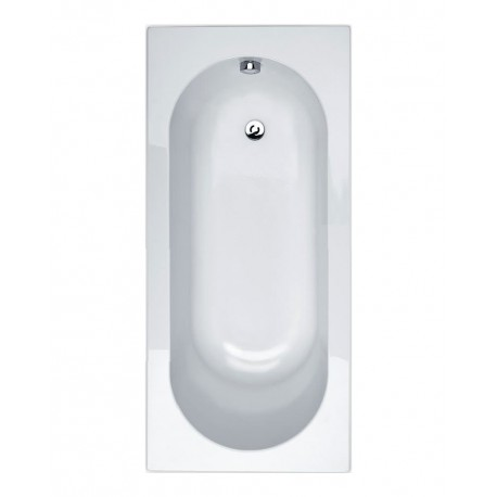 Essential Kingston Rectangular Single Ended Bath 1700x700mm 0 Tap Holes White