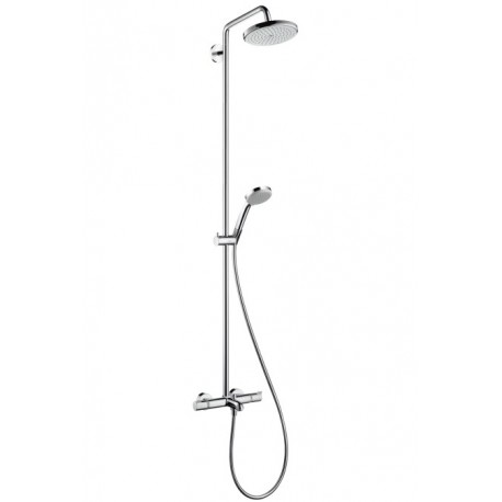 Hansgrohe Croma 220 Showerpipe for bath tub with swivelling shower arm