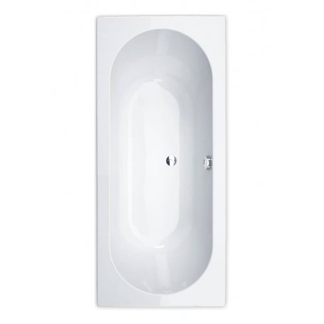 Essential Richmond Rectangular Double Ended Bath 1700x750mm 0 Tap Holes White