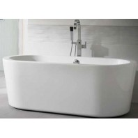 Essential Pebble Freestanding Oval Double Ended Bath 1700x800mm