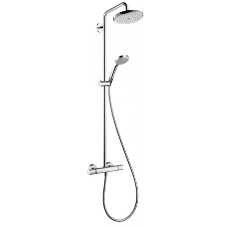 Hansgrohe Hansgrohe EcoSmart Croma 220 Showerpipe with swivelling shower arm
