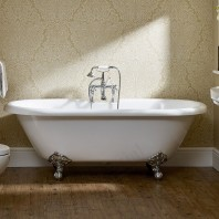 Essential Traditional Roll Top Freestanding Double Ended Bath 1700x790mm