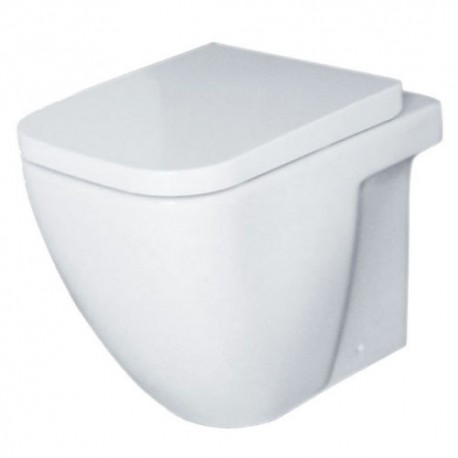 Essential FUCHSIA Back To Wall Pan + Soft Close Toilet Seat & Cover