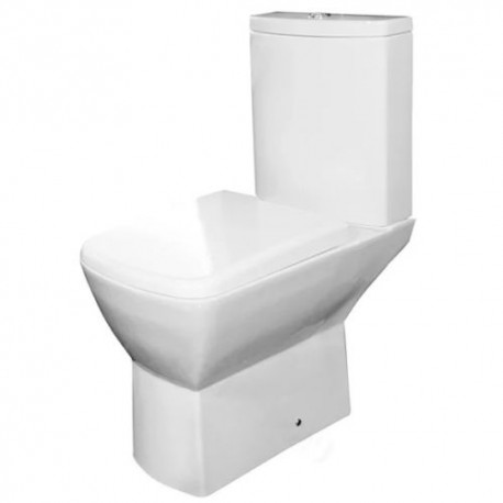 Essential JASMINE Close Coupled Pan Dual Flush Cistern + Soft Closed Toilet Seat & Cover