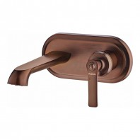 Flova Liberty Wall Mounted Basin Mixer with Clicker Waste - Brass