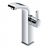 Flova Essence Mid Height Basin Mixer with Clicker Waste
