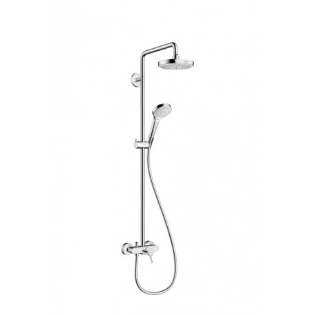 Hansgrohe Croma Select S 180 2jet Showerpipe with single lever mixer